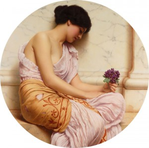 John William Godward (British 1861 1922) Violets, sweet violets